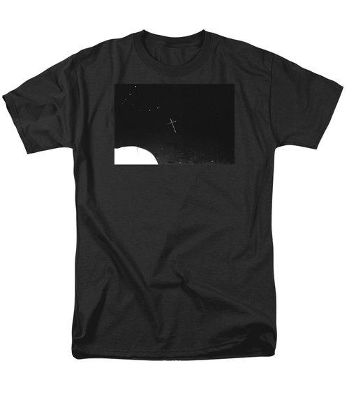 Men's T-Shirt  (Regular Fit) featuring the photograph White Cross by Steven Macanka
