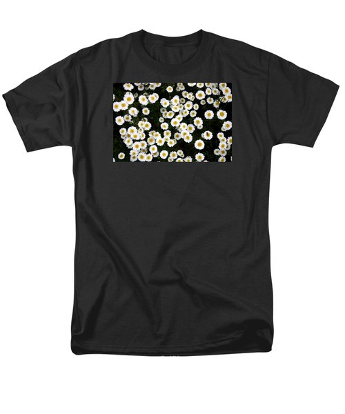 Men's T-Shirt  (Regular Fit) featuring the photograph White Daisys by Jean Walker