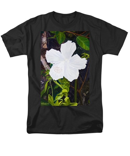 White Hibiscus Men's T-Shirt  (Regular Fit) by Mike Robles