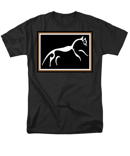 Men's T-Shirt  (Regular Fit) featuring the digital art White Horse Of Uffington by Vagabond Folk Art - Virginia Vivier