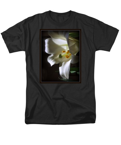 White Lily Men's T-Shirt  (Regular Fit) by Kay Novy