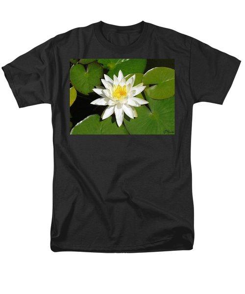 White Lotus 1 Men's T-Shirt  (Regular Fit)