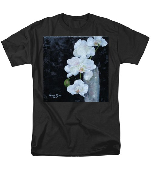 Men's T-Shirt  (Regular Fit) featuring the painting White Orchid by Judith Rhue