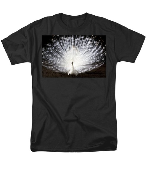White Peacock Men's T-Shirt  (Regular Fit) by Daniel Precht