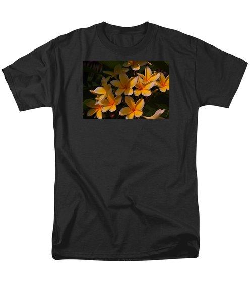White Plumeria Men's T-Shirt  (Regular Fit) by Miguel Winterpacht