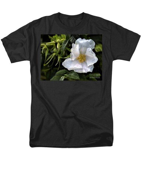 White Rose Men's T-Shirt  (Regular Fit) by Belinda Greb