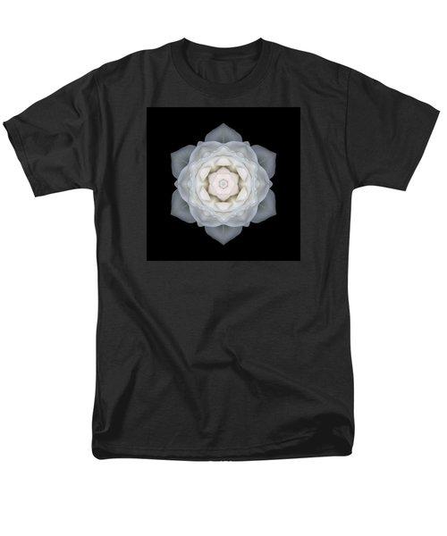 White Rose I Flower Mandala Men's T-Shirt  (Regular Fit) by David J Bookbinder