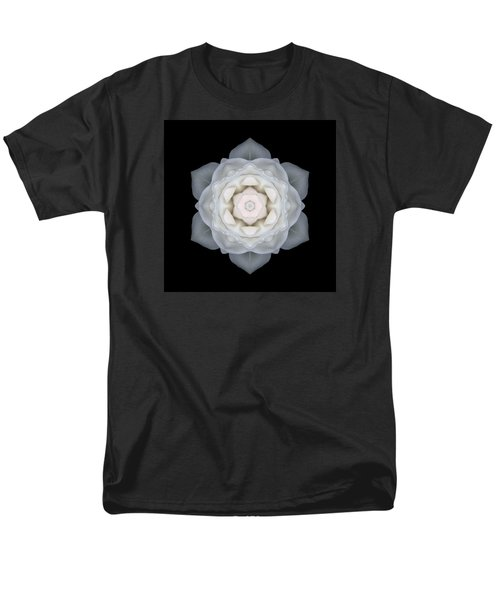 White Rose I Flower Mandala Men's T-Shirt  (Regular Fit)