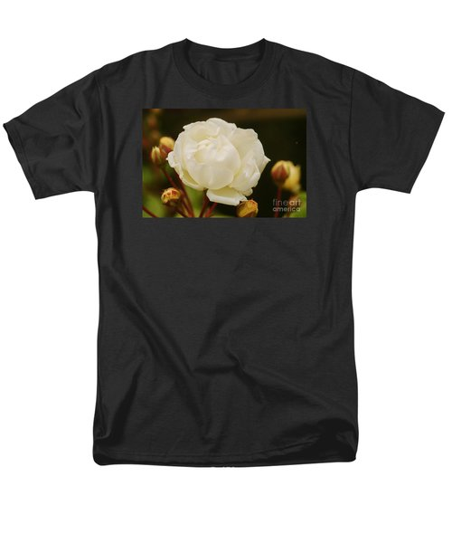 Men's T-Shirt  (Regular Fit) featuring the photograph White Rose 1 by Rudi Prott