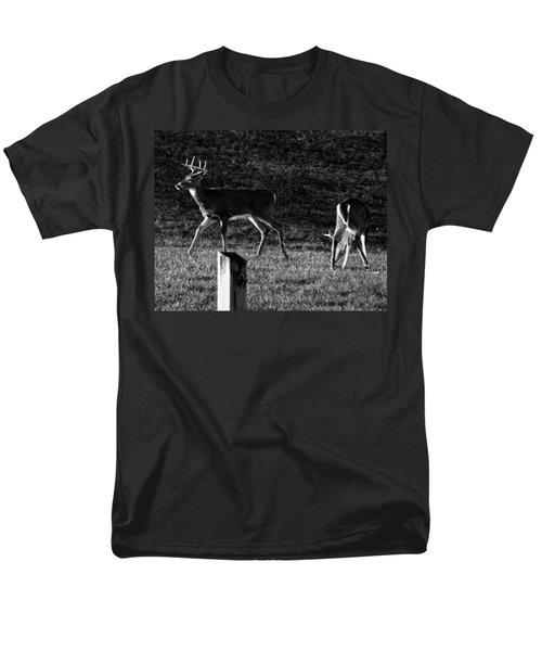 White Tailed Deer Men's T-Shirt  (Regular Fit) by Chris Flees