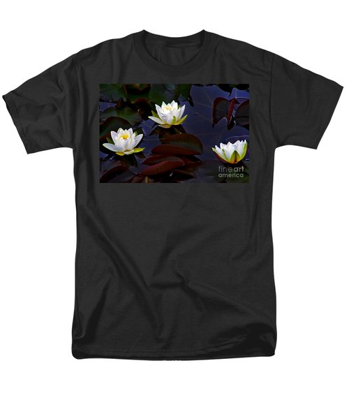 White Water Lilies Men's T-Shirt  (Regular Fit) by Nina Ficur Feenan