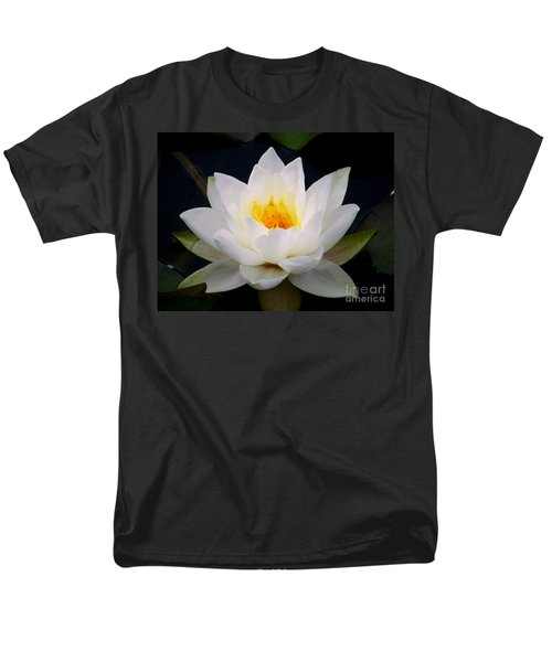 White Water Lily Men's T-Shirt  (Regular Fit) by Nina Ficur Feenan