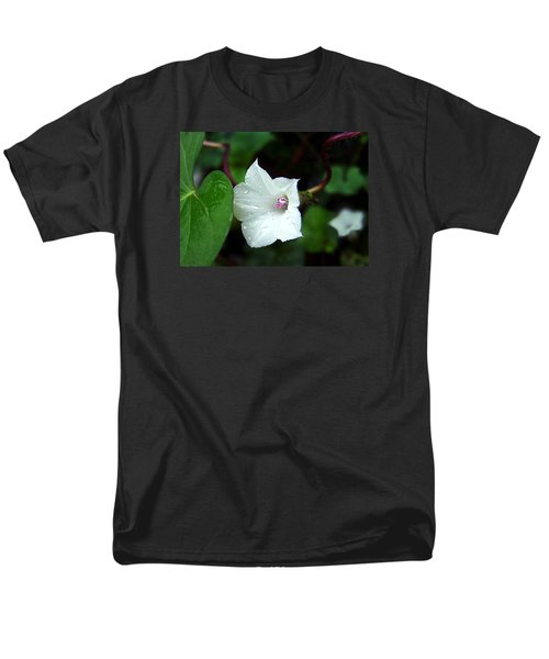 Men's T-Shirt  (Regular Fit) featuring the photograph Wild Whitestar Morning Glory by William Tanneberger
