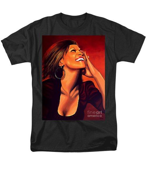 Whitney Houston Men's T-Shirt  (Regular Fit) by Paul Meijering