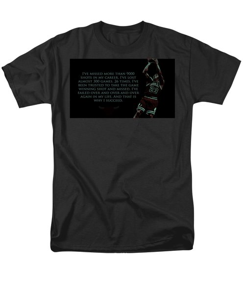 Men's T-Shirt  (Regular Fit) featuring the mixed media Why I Succeed by Brian Reaves