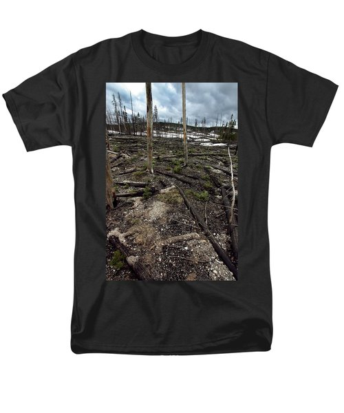 Men's T-Shirt  (Regular Fit) featuring the photograph Wild Fire Aftermath by Amanda Stadther