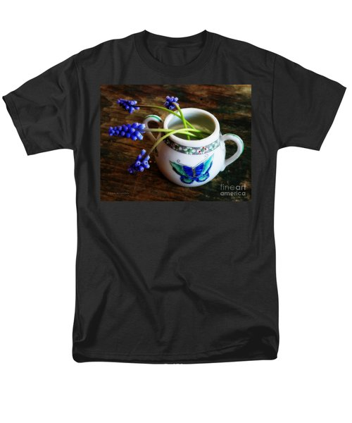Wild Flowers In Sugar Bowl Men's T-Shirt  (Regular Fit) by Lainie Wrightson