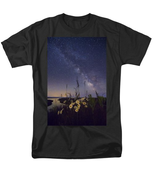 Wild Marguerites Under The Milky Way Men's T-Shirt  (Regular Fit) by Mircea Costina Photography