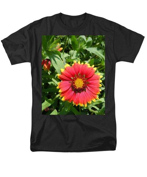 Men's T-Shirt  (Regular Fit) featuring the photograph Wild Red Daisy #2 by Robert ONeil