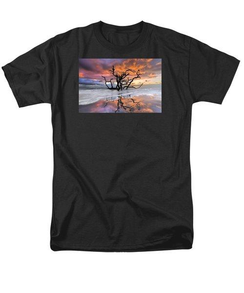 Wildfire Men's T-Shirt  (Regular Fit) by Debra and Dave Vanderlaan