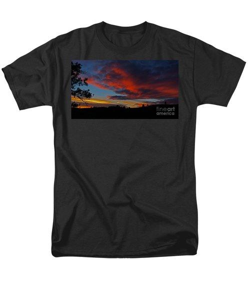 Black Hills Sunset Men's T-Shirt  (Regular Fit) by Bill Gabbert