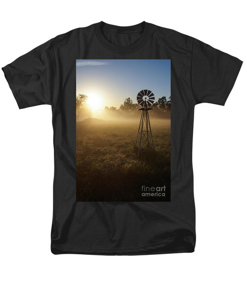 Windmill In The Fog Men's T-Shirt  (Regular Fit) by Jennifer White
