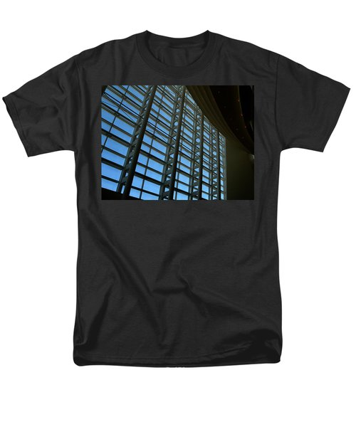 Men's T-Shirt  (Regular Fit) featuring the photograph Window Wall At The Adrienne Arsht Center by Greg Allore