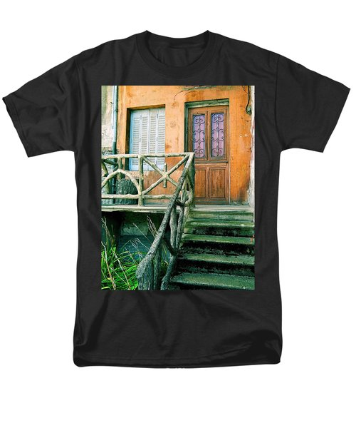 Men's T-Shirt  (Regular Fit) featuring the photograph Windows And Doors 25 by Maria Huntley