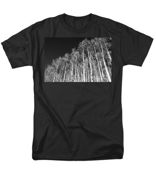 Men's T-Shirt  (Regular Fit) featuring the photograph Winter Aspens by Roselynne Broussard