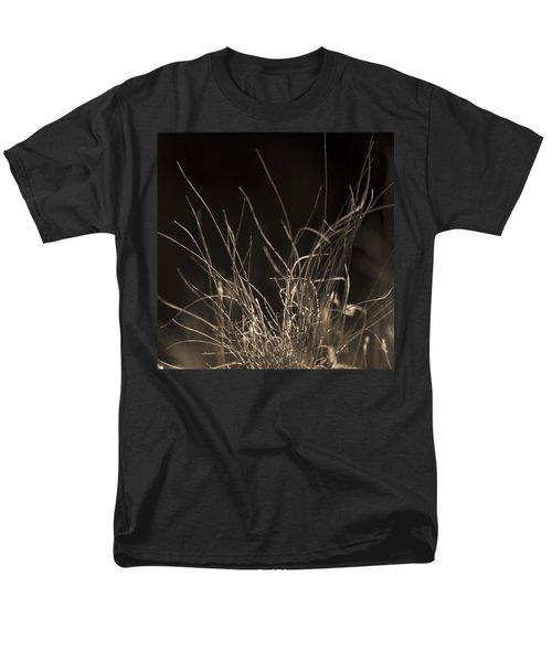 Men's T-Shirt  (Regular Fit) featuring the photograph Winter Grass 2 by Yulia Kazansky