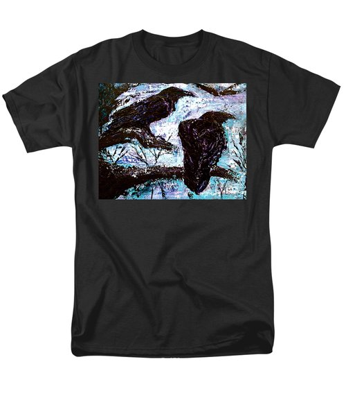 Men's T-Shirt  (Regular Fit) featuring the painting Winter Is Coming by D Renee Wilson