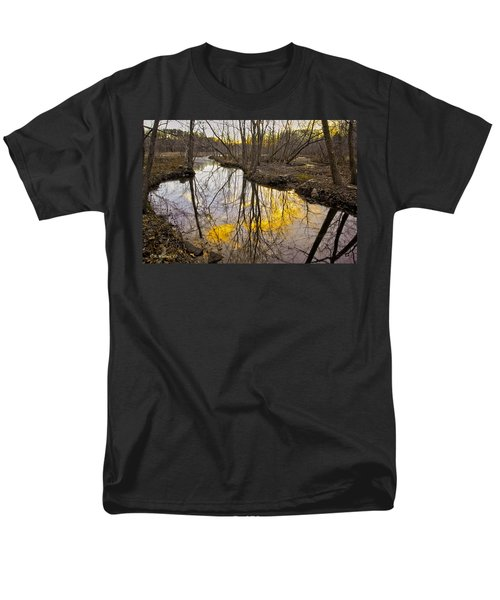Men's T-Shirt  (Regular Fit) featuring the photograph Winter Sunset At Williston Mill by Brian Wallace