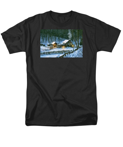 Men's T-Shirt  (Regular Fit) featuring the digital art Winter's Haven by Mary Almond