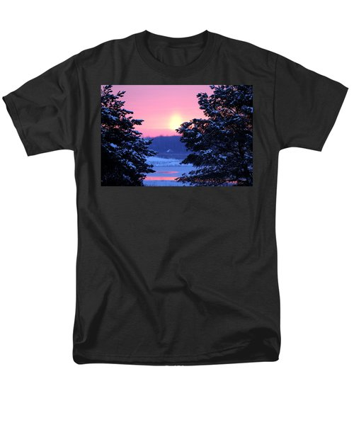 Men's T-Shirt  (Regular Fit) featuring the photograph Winter's Sunrise by Elizabeth Winter
