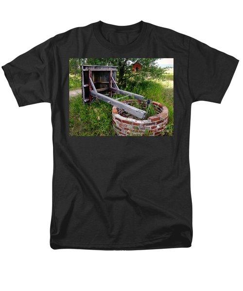Wistful Well Men's T-Shirt  (Regular Fit) by Meghan at FireBonnet Art