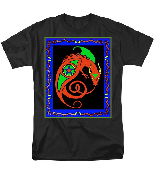 Men's T-Shirt  (Regular Fit) featuring the digital art Witches Dragon by Vagabond Folk Art - Virginia Vivier
