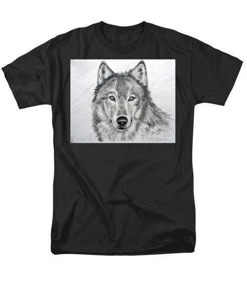 Wolf Men's T-Shirt  (Regular Fit) by Julie Brugh Riffey