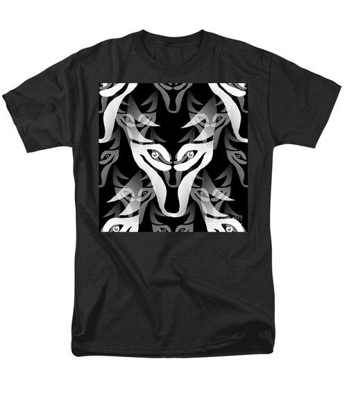 Wolf Mask Men's T-Shirt  (Regular Fit) by Barbara Moignard