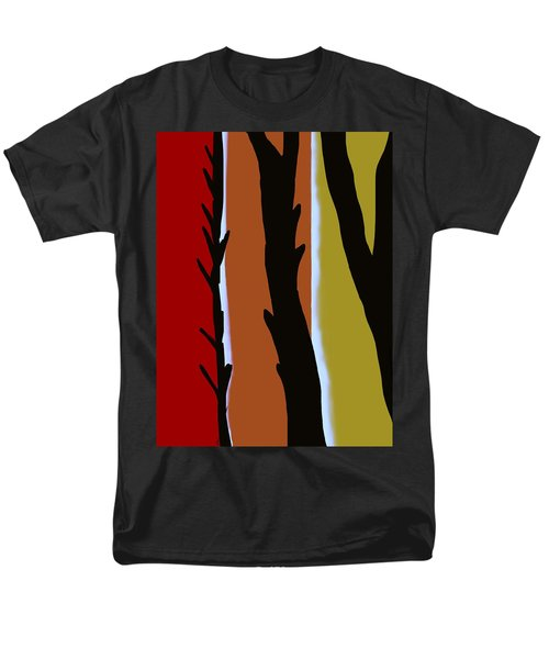 Men's T-Shirt  (Regular Fit) featuring the digital art Wood L by Christine Fournier