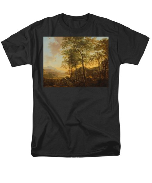 Wooded Hillside With A Vista Men's T-Shirt  (Regular Fit) by Jan Both