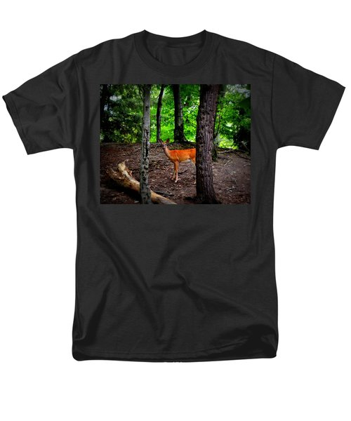 Woodland Deer Men's T-Shirt  (Regular Fit) by Michelle Calkins