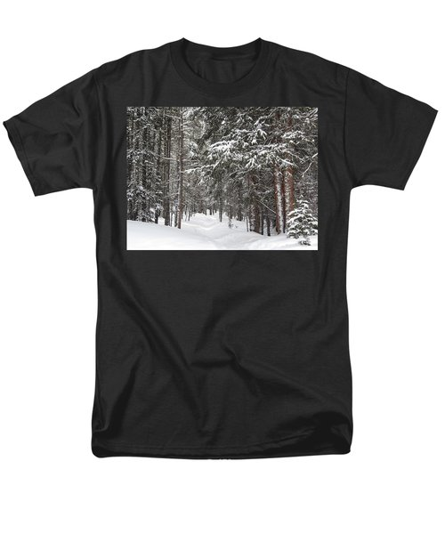 Woods In Winter Men's T-Shirt  (Regular Fit) by Eric Glaser