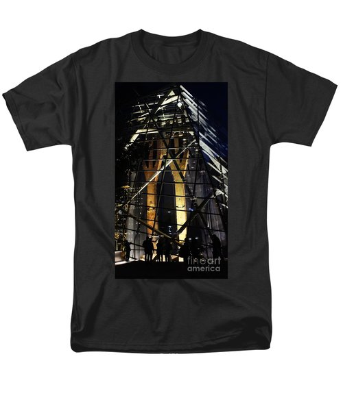 Men's T-Shirt  (Regular Fit) featuring the photograph World Trade Center Museum At Night by Lilliana Mendez