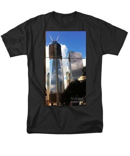 Men's T-Shirt  (Regular Fit) featuring the photograph World Trade Center Twin Tower by Susan Garren