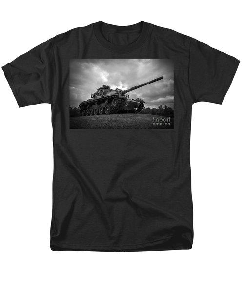 World War II Tank Black And White Men's T-Shirt  (Regular Fit) by Glenn Gordon