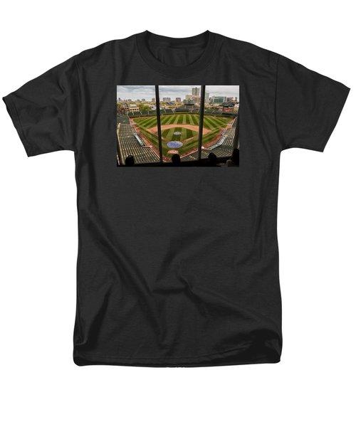 Wrigley Field Press Box Men's T-Shirt  (Regular Fit) by Tom Gort