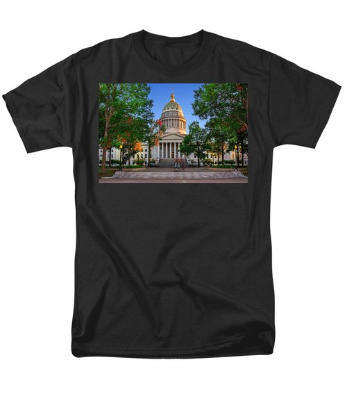 Wv Capitol As Dusk Men's T-Shirt  (Regular Fit) by Mary Almond
