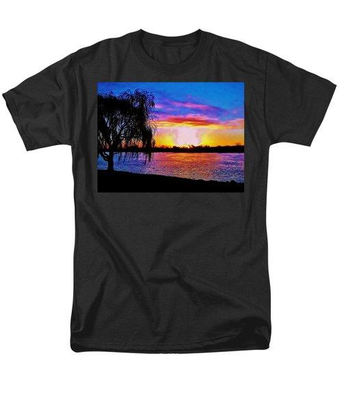 Men's T-Shirt  (Regular Fit) featuring the photograph Wyandotte Mi Sunrise by Daniel Thompson