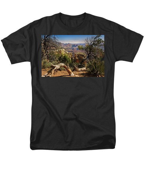 Men's T-Shirt  (Regular Fit) featuring the photograph Yaki Point 4 The Grand Canyon by Bob and Nadine Johnston