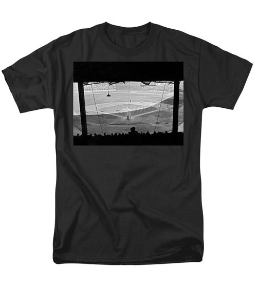 Yankee Stadium Grandstand View Men's T-Shirt  (Regular Fit) by Underwood Archives